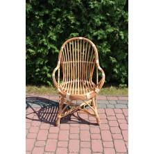 Fotel wiklinowy z oparciem