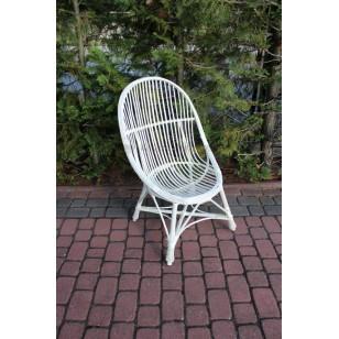 Fotel wiklinowy Muszla biały