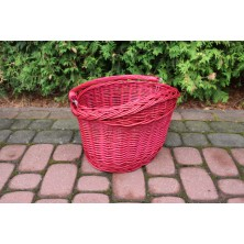 Koszyk na rower z uchwytami różowy