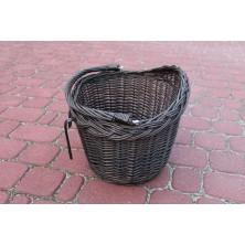 Koszyk na rower z uchwytami wenge brązowy