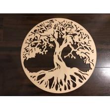 Drewniane drzewko szczęścia wiszące