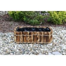 Doniczka drewniana przypalana 40 cm