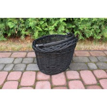 Koszyk na rower z uchwytami czarny