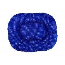 Poduszka niebieszka w kropki dla psa kota