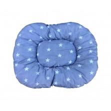 Poduszka szara w gwiazdki dla psa pupila kota