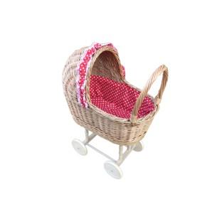 Wózek wiklinowy dla lalek w serca Exclusive