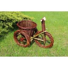 Rower wiklinowy do ogrodu na kwiaty 01