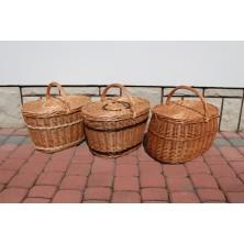 Kosz piknikowy wiklinowy trzy wzory