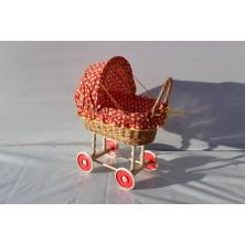 Wózek wiklinowy dla lalek 02