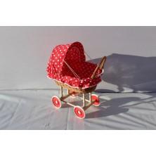 Wózek wiklinowy dla lalek 03