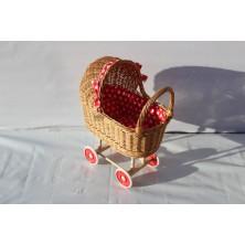 Wózek dla lalek z wikliny 06