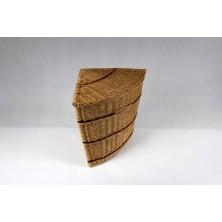 Kosz na pranie wiklinowy trójkąt średni 01