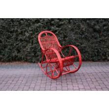 Fotel bujany z wikliny kolor bordowy Cari