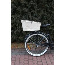 Kosz na bagażnik rowerowy dla psa wenge z kratką
