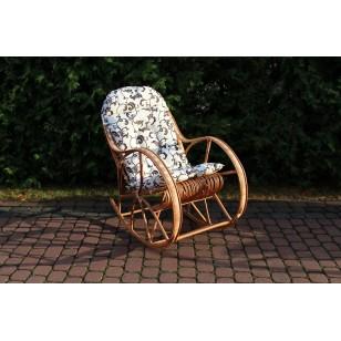 Poduszka na fotel bujany kolor ecru z brązem