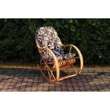 Poduszka na fotel bujany kolor brąz z ecru