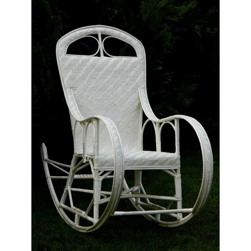 fotel bujany z maty wiklinowej