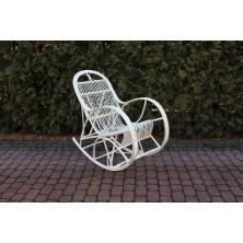 Fotel bujany biały Cari