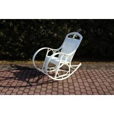 Fotel bujany z maty wiklinowej Królewski biały