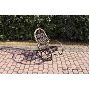 Fotel bujany dla dziecka wiklinowy wenge Bairn 03