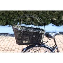 Kosz rowerowy na bagażnik dla psa kota brąz wenge