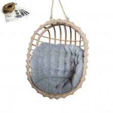 Fotel wiszący bujany owal + mocowanie sufitowe + poduszka