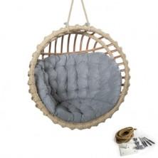 Fotel bujany wiszący kula + poduszka + mocowanie sufitowe