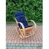 Poduszka na fotel bujany kolor Granatowy