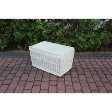 Kufer wiklinowy 70 cm biały