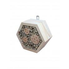 Drewniany domek dla owadów sześciokątny 02