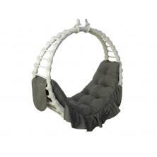 Hamak wiklinowy biały z poduszką